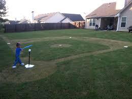 backyard baseball field daddy made this for logan u0027s sports themed