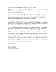 letter of recommendation for college admission world of letter