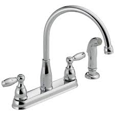 Delta Kitchen Faucet Installation Video 21988lf Two Handle Kitchen Faucet With Spray