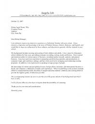 sample elementary teacher cover letter choice image cover letter