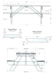 picnic table plans detached benches decoration 8 ft picnic table plans building the frame of detached