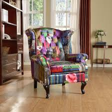 brand new anna scroll chesterfield wing back luxury patchwork