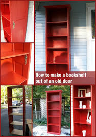 How To Make A Bookshelf Out Of A Pallet Old Door Project Ideas For Repurposed Doors My Repurposed Life