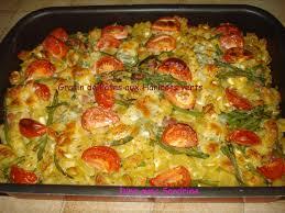 cuisiner des haricots verts gratin de pâtes aux haricots verts