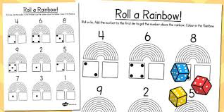 rainbow roll number bonds activity sheet rainbow roll bonds