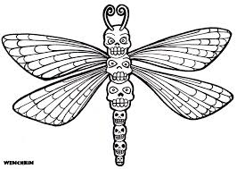 yucca flats n m wenchkin u0027s coloring pages skull totem dragonfly