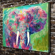 imagenes abstractas hd de animales a1861 leroy neiman colorido elefante abstracto animal hd canvas