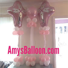 baptism table centerpieces cross centerpieces christening table decorations baptism balloon