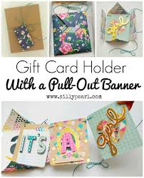 make a gift card gift card holder with pull out banner yesterday on tuesday