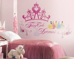 disney wall quotes for kids room with pink paint color ideas