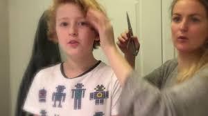 big haircut day mum cuts off our hair youtube
