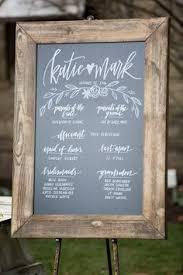 Chalkboard Wedding Programs Chalkboard Wedding Program 23x35 Rustic By Chalkfulloflove