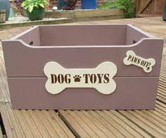 personalised painted dog toy box dog toy box dog and doggies
