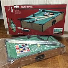 tabletop pool table toys r us price lowered totes tabletop pool table toys games on carousell