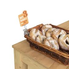 bakery basket bakery store clip on sign holder attaches to pastry displays