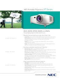 download free pdf for nec vt575 projector manual