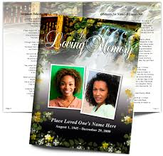 crossing large funeral booklet template with preprinted title