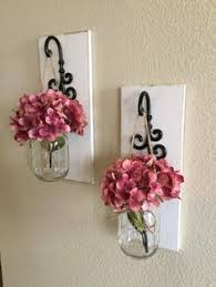home decor wall set of 2 hanging jar sconce wood wall decor rustic