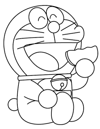 doraemon eats cookie coloring free printable coloring pages