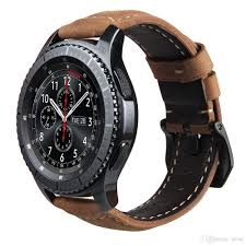 bracelet leather watches images Genuine leather strap for gear s3 smart watch band replacement jpg