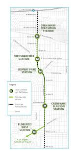 Metro Expo Line Map by Crenshaw Lax Line Los Angeles Transit Neighborhood Plans