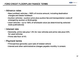 Floor Plan Financing Agreement | floor plan finance charlottedack com