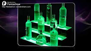 Liquor Display Shelves by Led Wall Mount Liquor Display Shelves Youtube