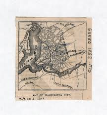Maps Of Washington Dc by Large Old Map Of Washington City 1852 Washington D C Usa