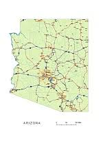us map arizona state preview of arizona state vector road map