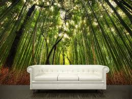 wall stickers murals wall sticker bamboo forest trees path mural 15 4 1 2 x 9 by