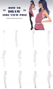 how to draw a side view model pose in fashion sketches http www