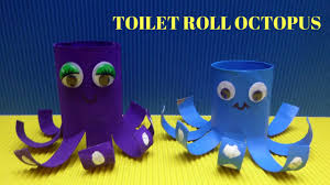 how to make a toilet paper roll octopus toilet paper roll crafts