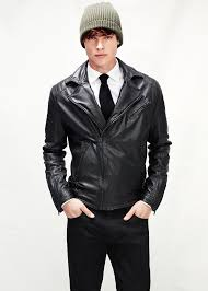 biker jacket men mango leather biker jacket in black for men lyst