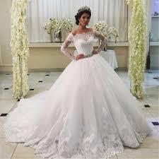 Off The Shoulder Wedding Dresses Wedding Dress 2017 High Quality Vestidos De Novia Con Mangas Off