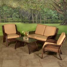 4 Piece Wicker Patio Furniture - patio furniture wicker patio furniture wicker patio grouping