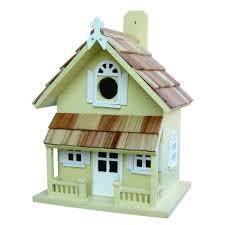 amazon com home bazaar hand made victorian yellow bird house