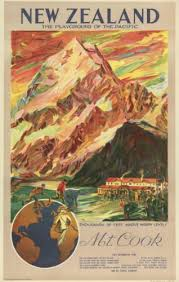 Vintage Home Decor Nz Mt Cook Vintage Poster Playground Of The Pacific For Sale New