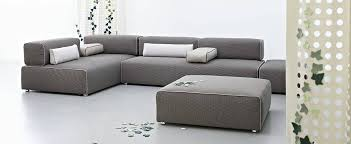 sofa braun modular sofa contemporary fabric leather ponton next by
