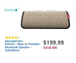 black friday bluetooth speaker deals 199 99 fugoo style xl portable bluetooth speaker sand black deal