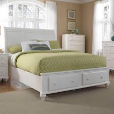 Broyhill Mission Style Bedroom Furniture Queen Headboard And Storage Footboard Sleigh Bed By Broyhill
