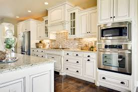 brown painted walls and white cabinets in kitchens comfortable
