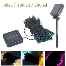 100 outdoor solar led string lights 50 100 200 led outdoor solar ls led string lights fairy holiday