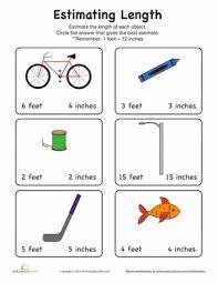 estimate length worksheet education com