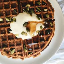 carrot cake waffles with cinnamon maple yoghurt the healthy hunter
