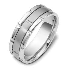white gold mens wedding band wedding rings beveled white gold mens wedding band white gold