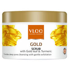 Scrub Gold buy vlcc gold scrub with gold leaf turmeric provides pore