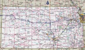 Large Map Of The United States by Large Detailed Roads And Highways Map Of Kansas State With All