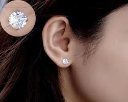6mm stud earrings yan sterling silver brilliant swarovski studs