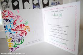 wedding invitations glasgow rainbow carnival typography wedding invitations wedfest