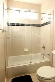 Bathroom Shower Doors Ideas Frameless Bypass Shower Doors Lowes Sliding Bathtub For